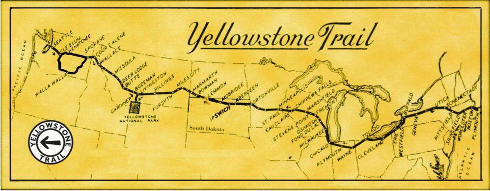 Yellowstone Trail map by John Ridge