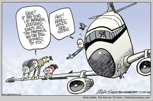 NBC has kindly compiled a slew of editorial cartoons about air travel to give you something to laugh about while you're trying to buy a ticket.
