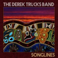 Album cover from Trucks' Songlines with its stylized take on Aboriginal art.