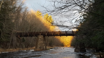 Footbridge over the Eau Claire River, Marathon County