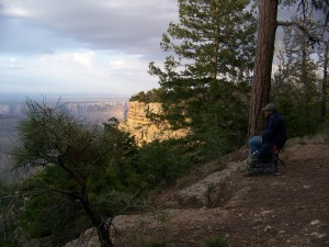 My son sam and brother-in-law Fernando enjoying a sunset on the Cape Final Trail on the Grand Canyon's North Rim in 2007. The Grand Canyon is one of many national parks that have received LWCF funding.