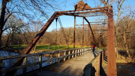 03_Bridge over the river in Baraboo's Ochsner park